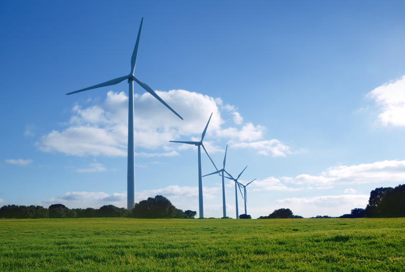 Modern wind turbines have low frequencies at vibration modes 1 and 2