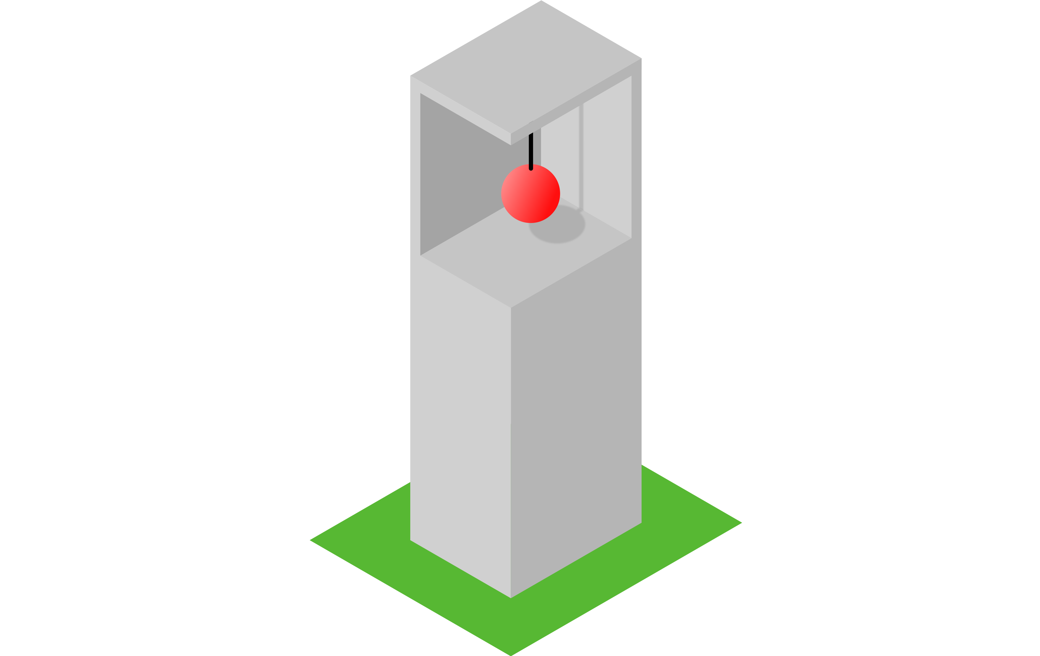 Simplified example of a TMD: A pendulum in a tall building can counteract swaying vibrations.